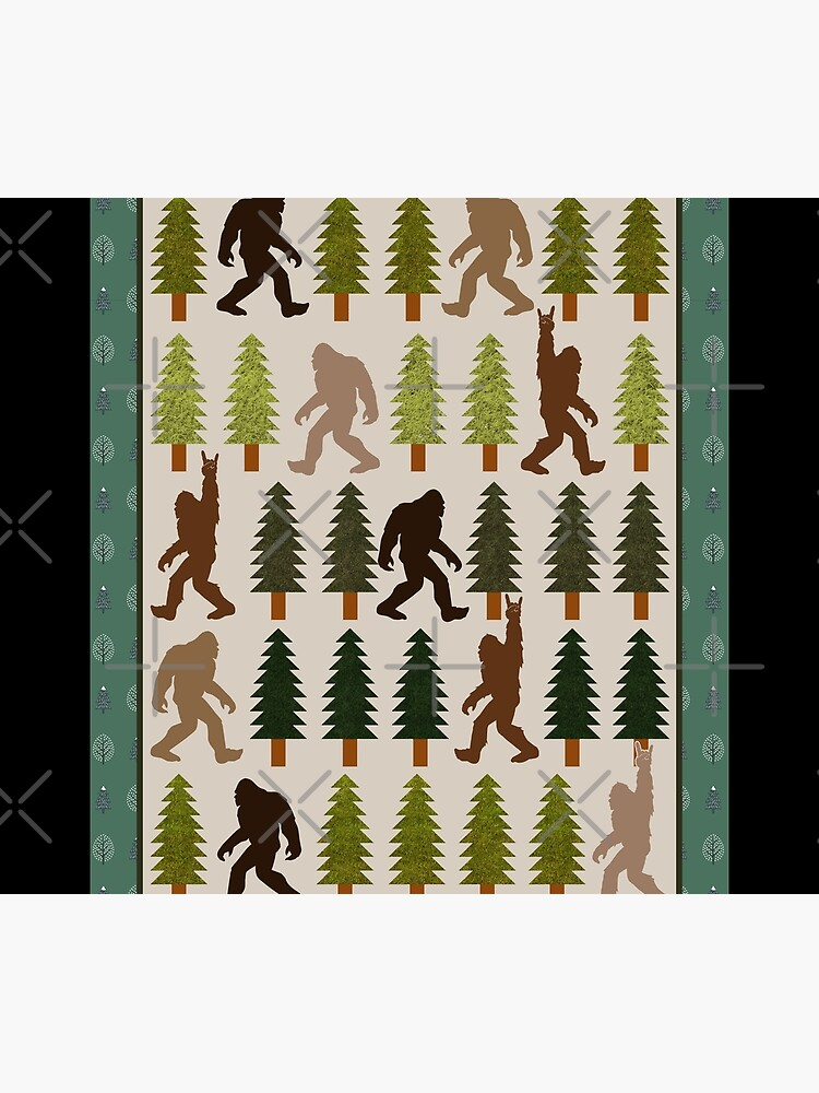Trendy Bigfoot Walking In The Forest Graphic Blanket Design Sasquatch Believers by tuanitus