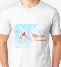 Happy Mother's Day Perched Bird on Branch T-Shirt