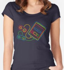 Super Famicom Women's Fitted Scoop T-Shirt