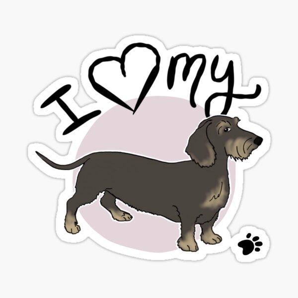 Car Window Sticker V03 Wire Haired Dachshund on Board Teckel Dog Decal Gift