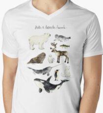 Arctic & Antarctic Animals Men's V-Neck T-Shirt
