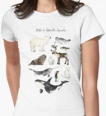 Arctic & Antarctic Animals Women's Fitted T-Shirt