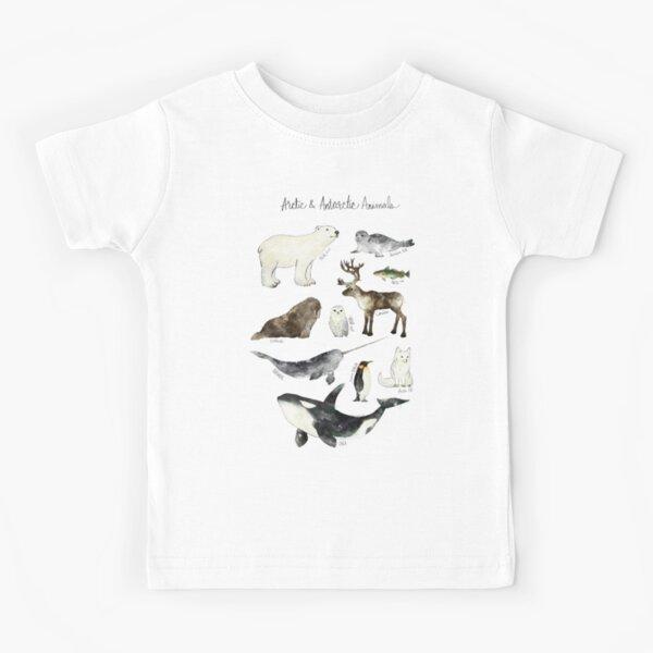 Arctic & Antarctic Animals Kids T-Shirt