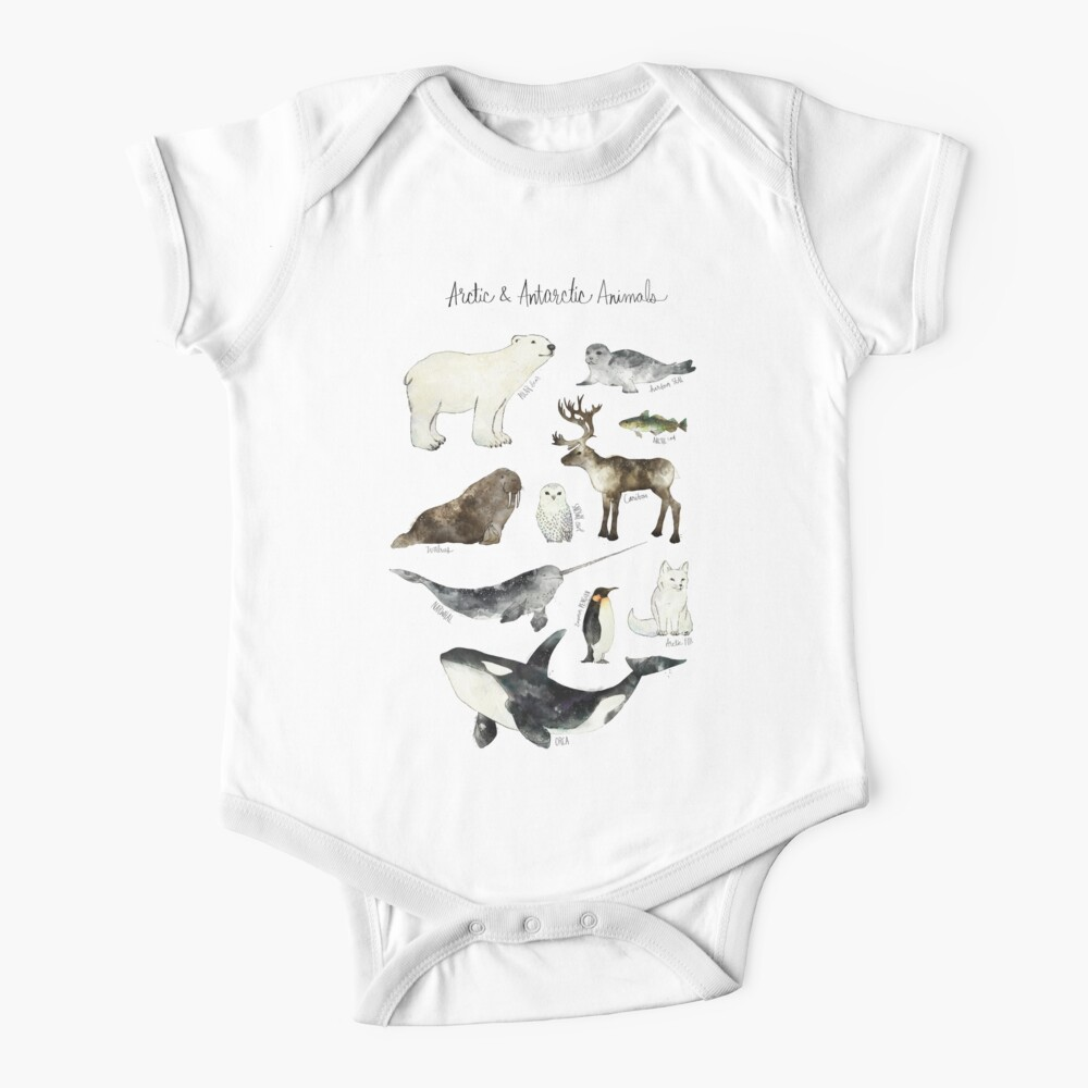 Arctic & Antarctic Animals Baby One-Piece
