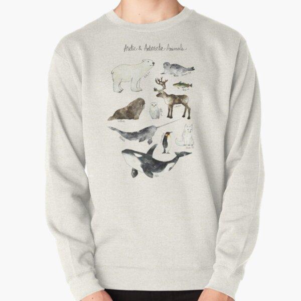 Arctic & Antarctic Animals Pullover Sweatshirt