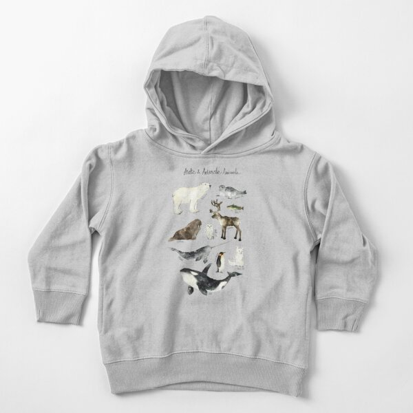Arctic & Antarctic Animals Toddler Pullover Hoodie