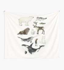 Arctic & Antarctic Animals Wall Tapestry