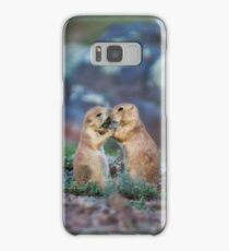 Cute Black-tailed Prairie Dogs at Wichita Mountains NWR Samsung Galaxy Case/Skin