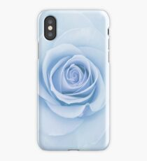Soft Baby Blue Rose Abstract iPhone Case/Skin
