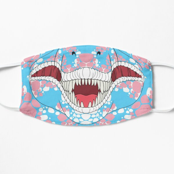 Pride Trans T-Rex Face Flat Mask