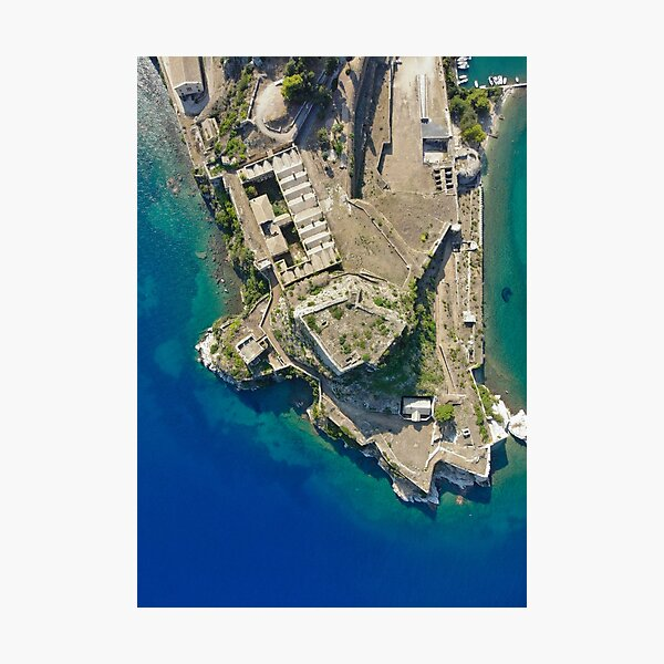 Old Fortress of Corfu Kerkira from above Photographic Print