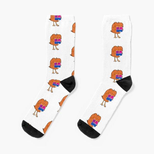 Bisexual pride kiwi bird Socks