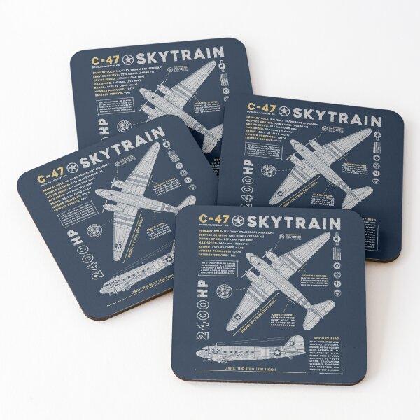 C-47 Skytrain Coasters (Set of 4)