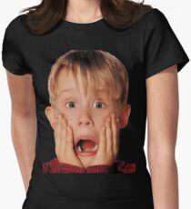 Macauly Culkin From Home Alone Women's Fitted T-Shirt