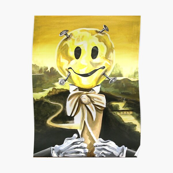 the cruel nails on a happy face Poster
