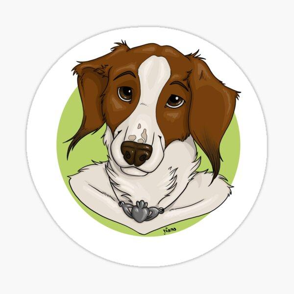 Kooiker Dog Portrait (Emmy) Sticker