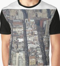 Aerial View, Greenwich Village, One World Observatory, World Trade Center Observation Deck, Lower Manhattan, New York City Graphic T-Shirt