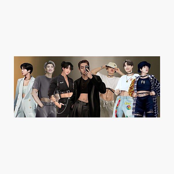 BTS Crop Top series Photographic Print