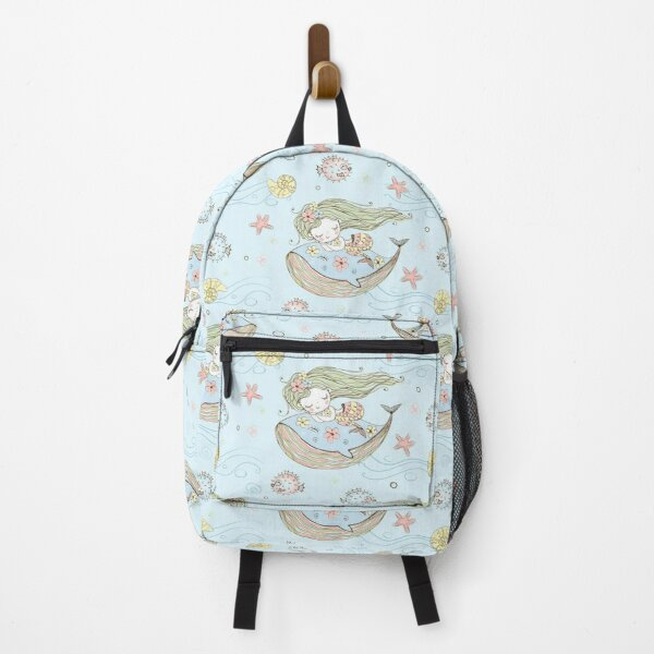 Little Mermaid Pattern Backpack