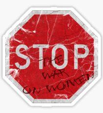 Stop the War on Women Sticker