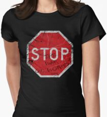 Stop the War on Women Womens Fitted T-Shirt