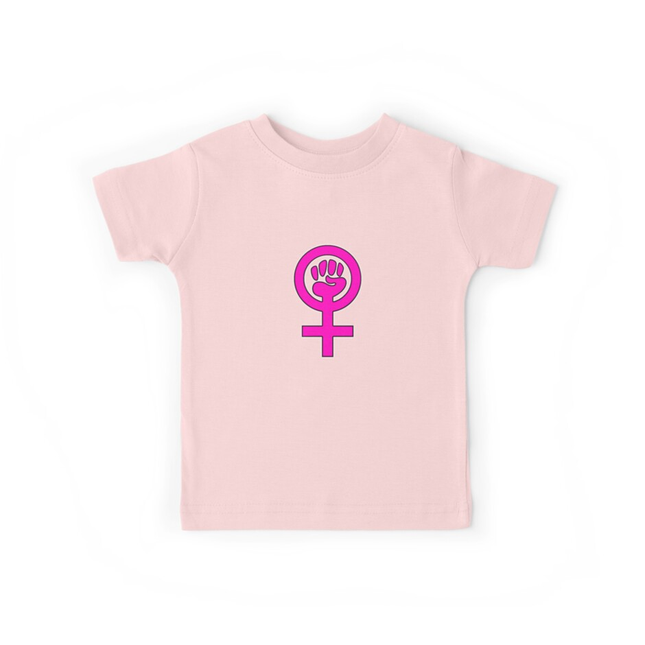 Women S Power Feminist Symbol 2 Kids Tees By 321outright Redbubble