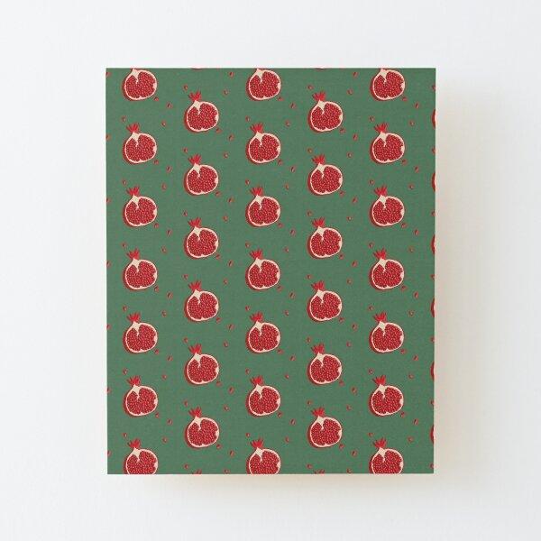 Pomegranate Green Wood Mounted Print