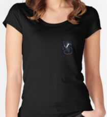 X files hand Women's Fitted Scoop T-Shirt