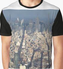 Aerial View, Midtown Manhattan, One World Observatory, World Trade Center Observation Deck, Lower Manhattan, New York City Graphic T-Shirt