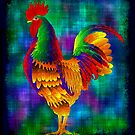 Colourful Rooster 1 by myrbpix