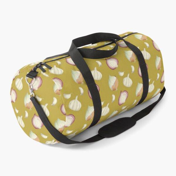 Onions and Garlic Yellow Duffle Bag