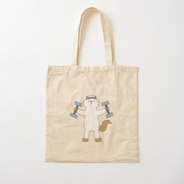 Work out Moo Cotton Tote Bag