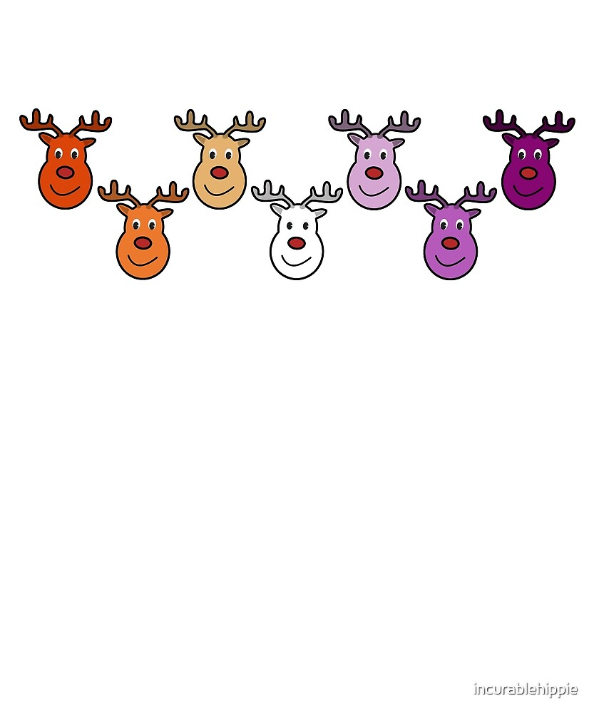 Festive lesbian reindeer for Christmas by incurablehippie
