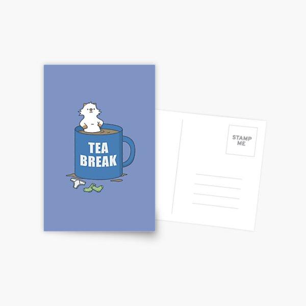 Tea Break Moo Postcard