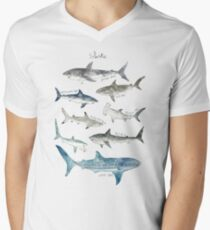 Sharks Men's V-Neck T-Shirt