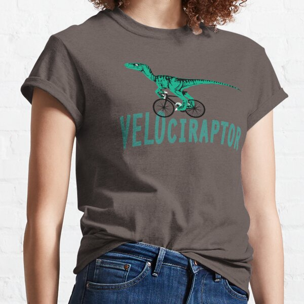 Velociraptor - The Cycling Dinosaur. Classic T-Shirt