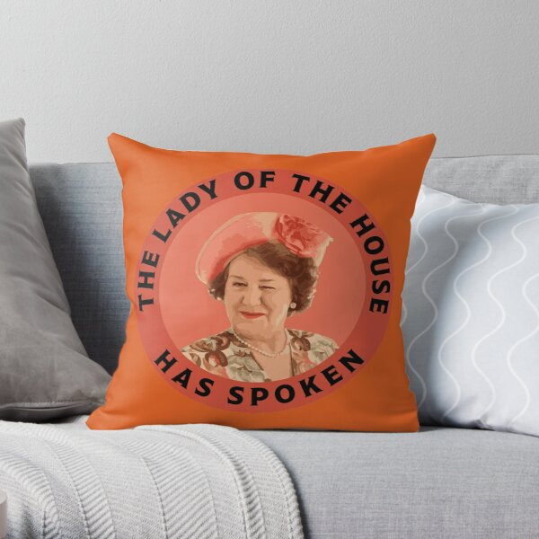 Keeping Up Appearances - Hyacinth Bucket - Hyacinth Bouquet - Snob Gifts - Funny British Snob Throw Pillow