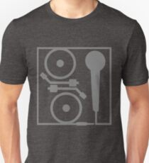 2 turntables and a microphone T-Shirt