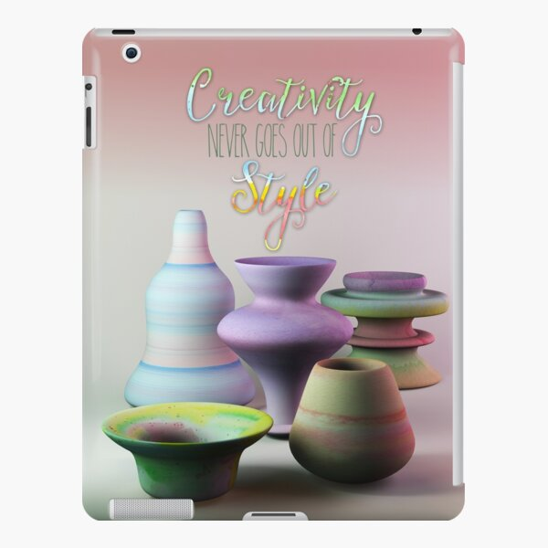 Creativity Never Goes Out of Style Watercolor 3D Pottery iPad Snap Case
