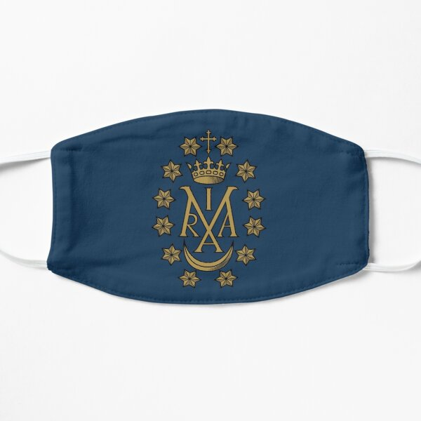 Miraculous Medal Vintage Maria Insignia Flat Mask