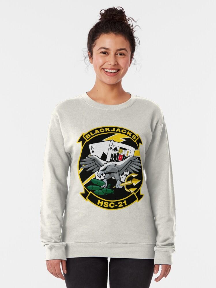 Alternate view of Model 43 - Black Jacks - HSC-21 Pullover Sweatshirt
