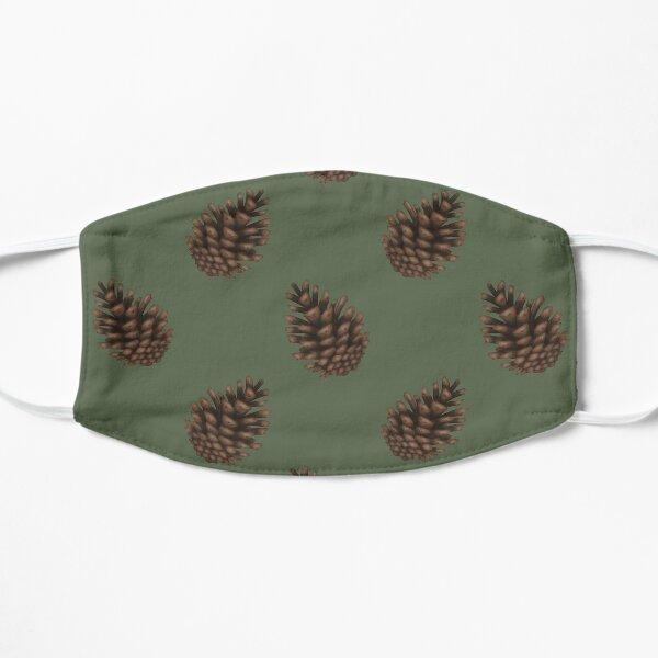 Pinecones Green Flat Mask