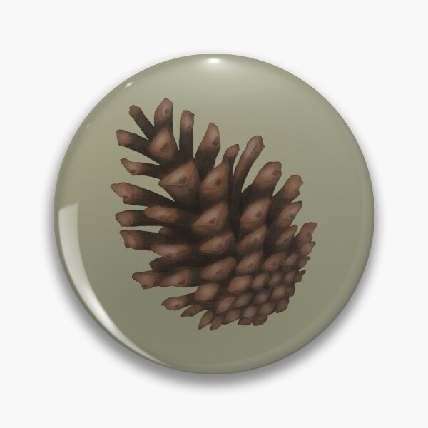 Pinecones Light Green Pin