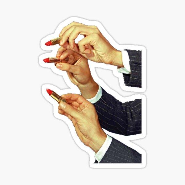 Hands with lipstick Sticker