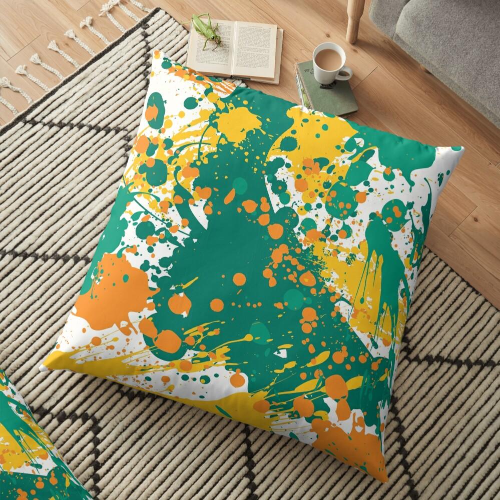 Graffiti Sunset Floor Pillow