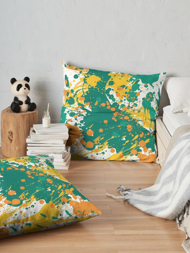 Alternate view of Graffiti Sunset Floor Pillow