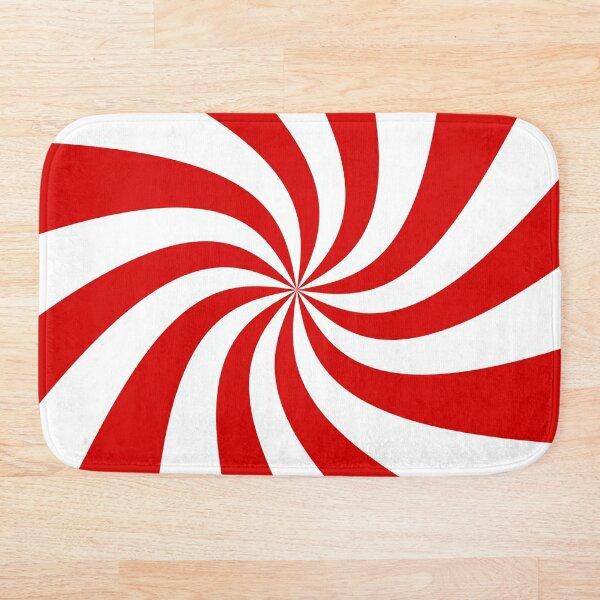 candy cane swirl patterned Bath Mat