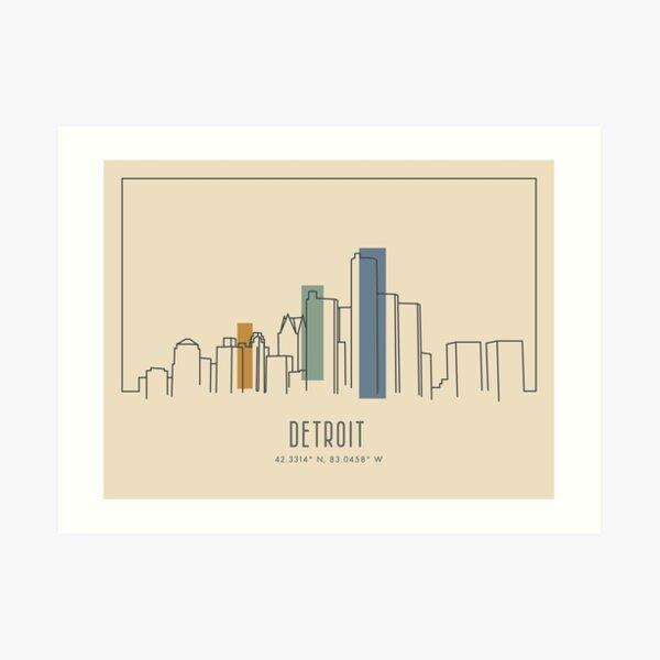 The City of Detroit Art Print