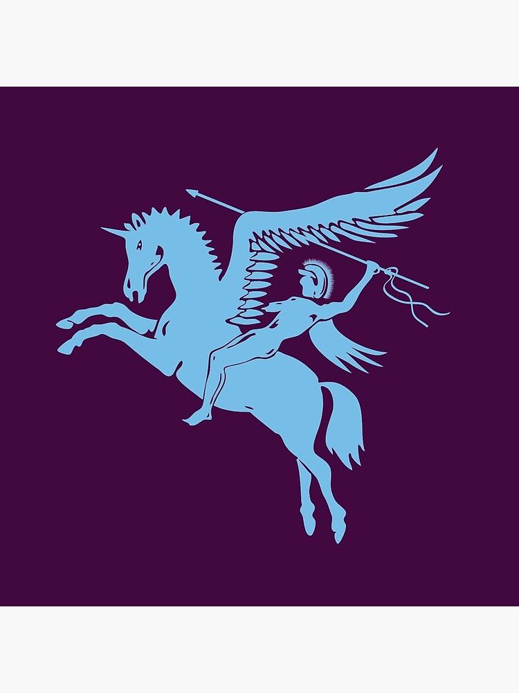 PARAS.  Bellerophon riding Pegasus. British Airborne Forces. by TOMSREDBUBBLE