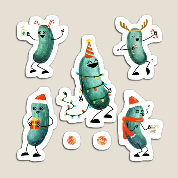 Holiday Pickle Party! Magnet